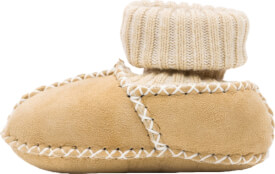 Fillikid Baby Lammfell Schuhe, natur, Gr. 17/18